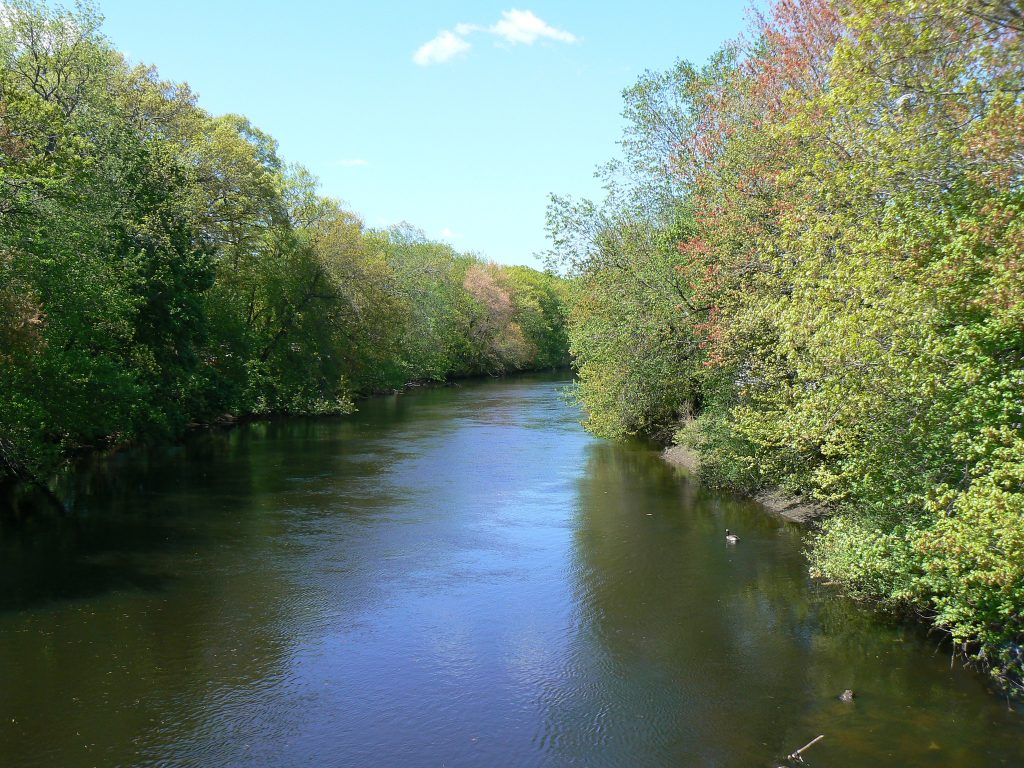 Pawtuxet River in Spring; photo by Josh Wood